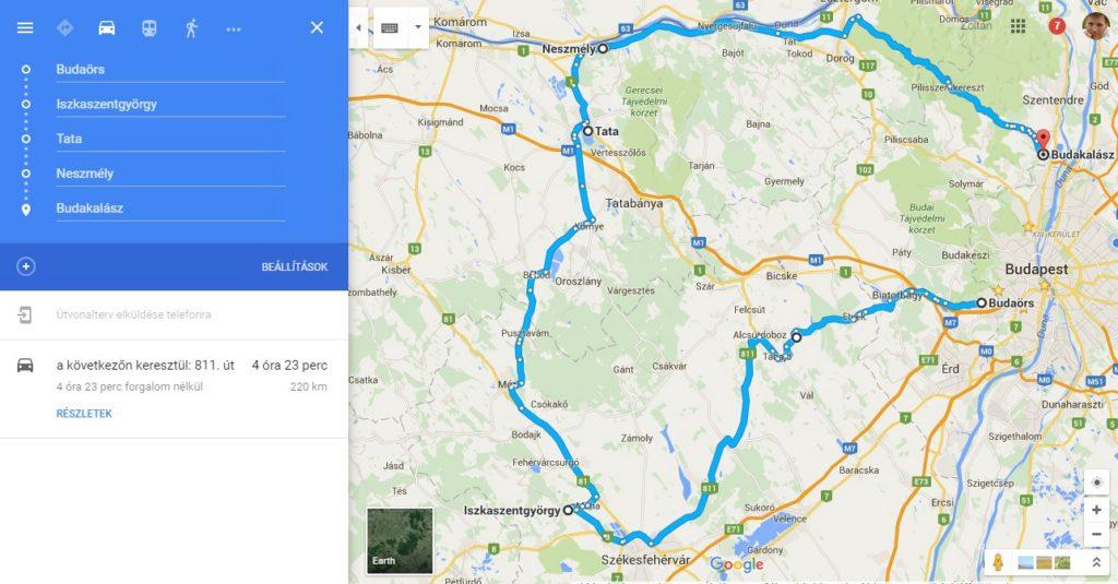 cabrio térkép túra 1